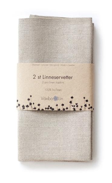 Servett 50x50 cm 2-pack Oblekt