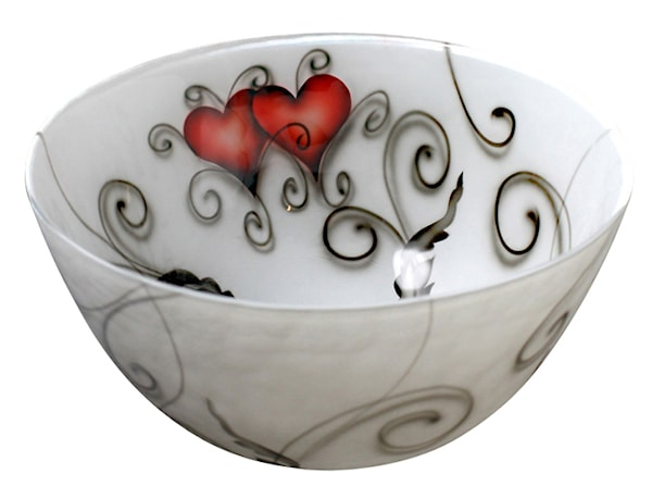 Crystal Ink Skål 17 cm heart