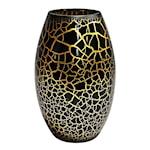 Croco Vas 26 cm Svart/Guld