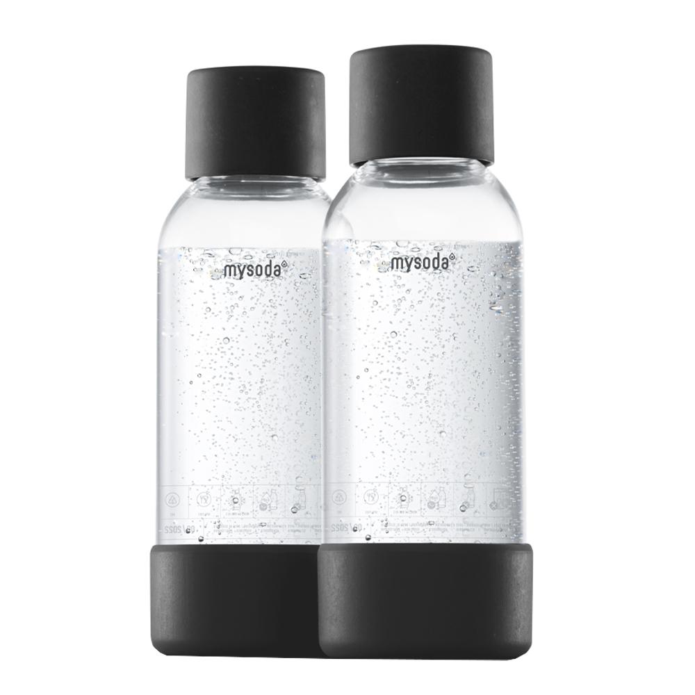 MySoda - MySoda Flaska till Kolsyremaskin 2-pack 0,5  L  Svart