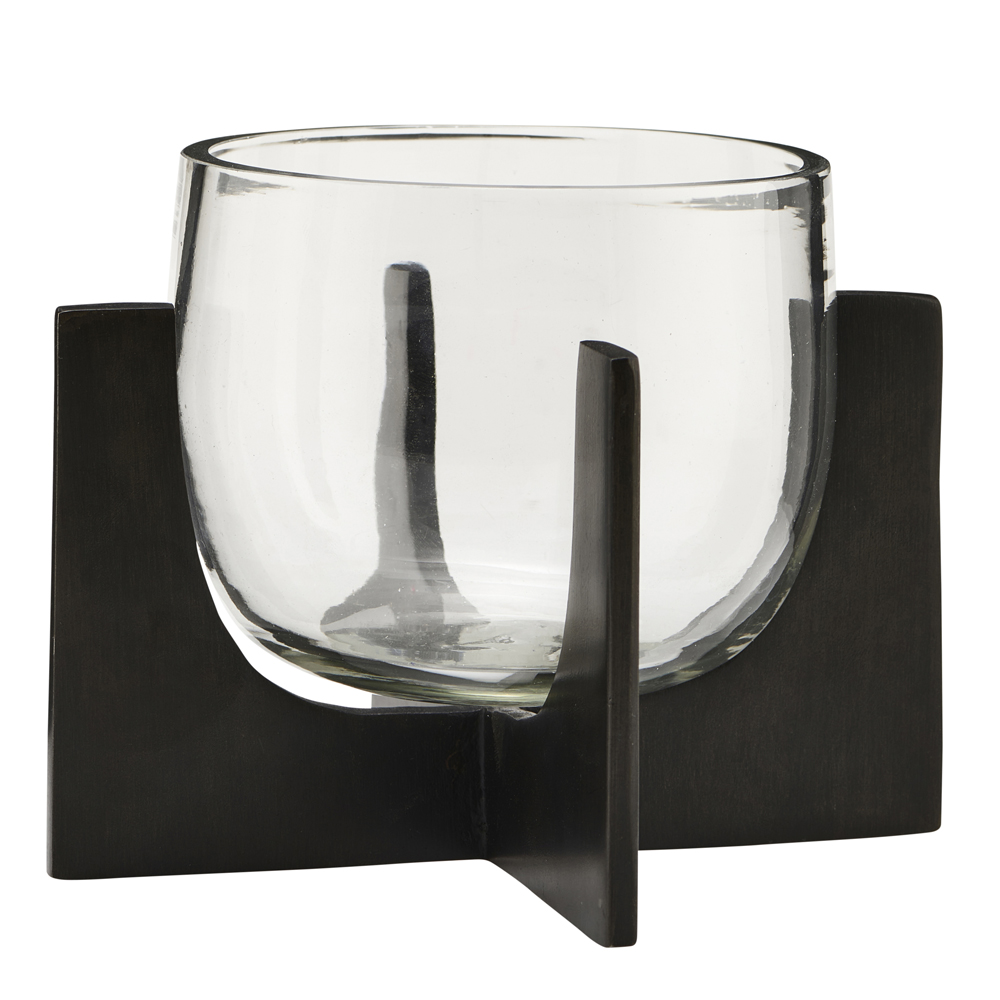 House Doctor - Gravity Ljuslykta Glas/Råjärn 12,5 cm