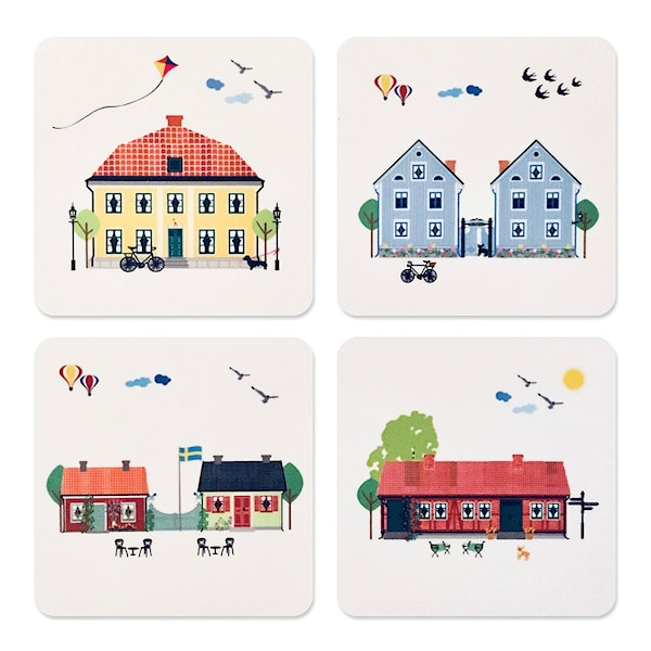 Citronelles Houses of Sweden Glasunderlägg 4-pack