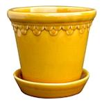 Köpenhavner Kruka/Fat 21 cm Gul amber