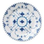 Blue Fluted Full Lace Tallrik 19 cm