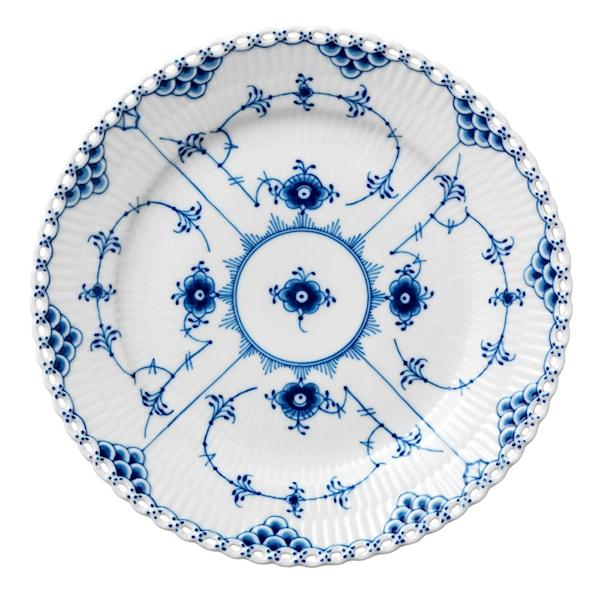 Royal Copenhagen Blue Fluted Full Lace Tallrik 19 cm