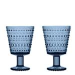 Kastehelmi Glas på fot 2-pack Regn