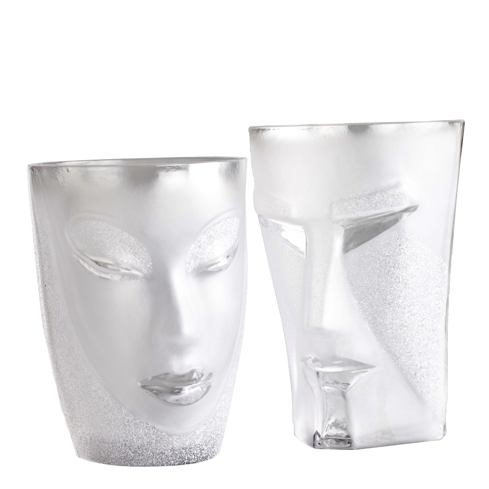 Målerås Glasbruk - Masq Tumbler Kubik/Electra Klar