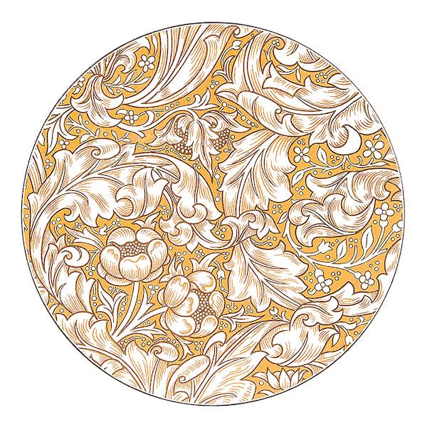 Bachelor's Button Grytunderlägg 23,5 cm
