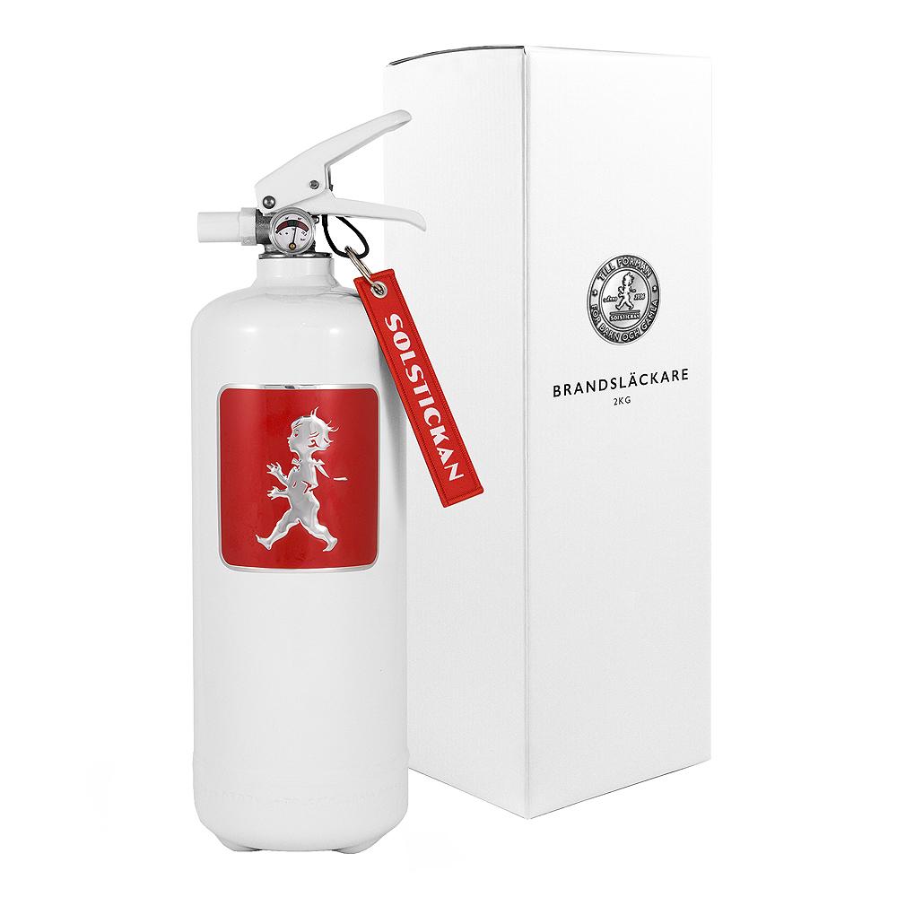 Solstickan - Brandsläckare 2 kg Vit/Rött emblem