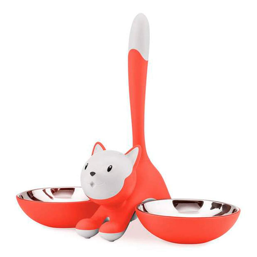 Alessi - Tigrito Kattskål dubbel Röd