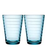 Aino Aalto Glas 33 cl 2-pack Ljusblå