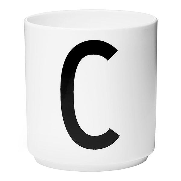 Design Letters Mugg C Vit