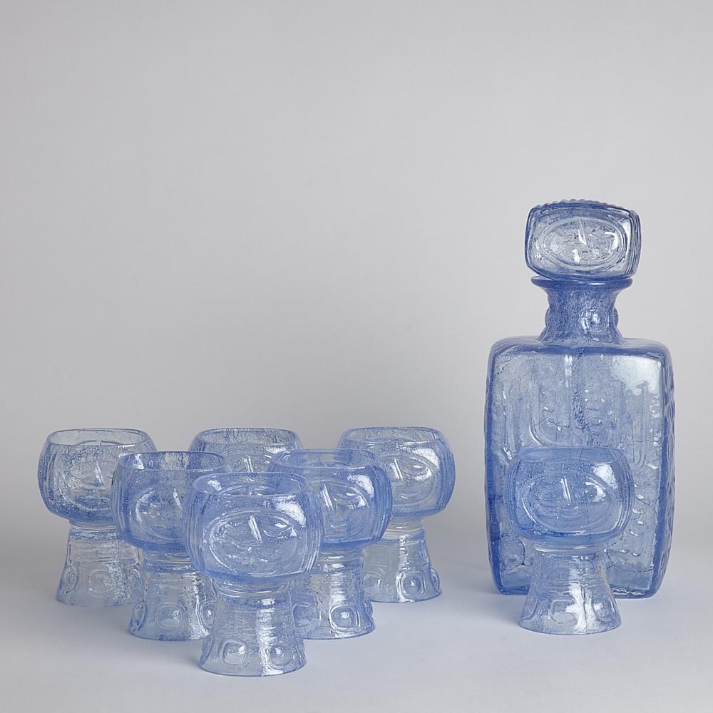 Vintage - SÅLD Björkshult glas och karaff 8 delar