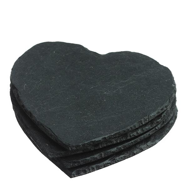 Glasunderlägg Hjärta 4-pack