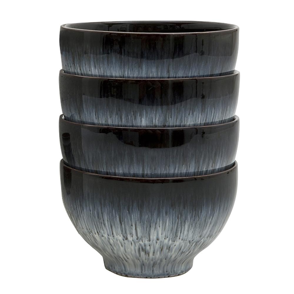 Denby - Halo Skål 10 cm 4-pack  Blå-svart