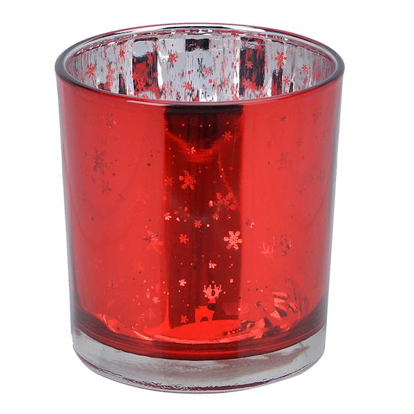 Audun Ljushållare Röd 8 cm