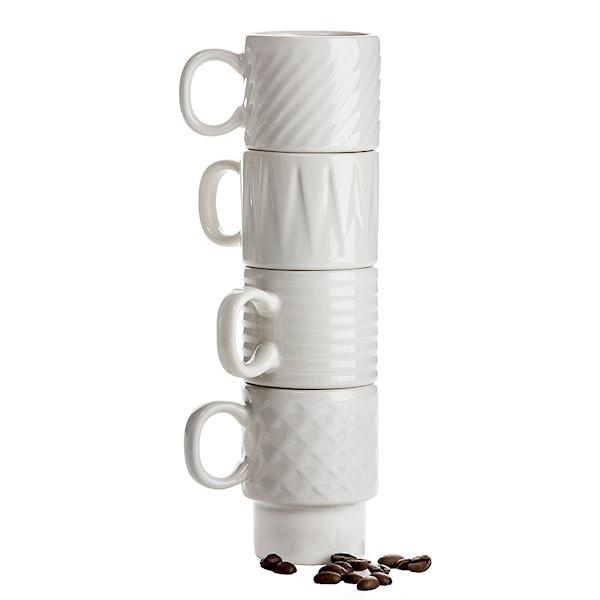 Coffee & More Espressokopp 10 cl 4-pack