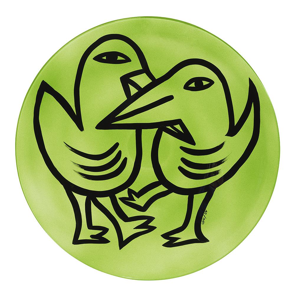 Kosta Boda - Final Peace Fat Fåglar Grön 38,5 cm Grön