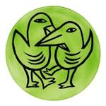 Final Peace Fat Fåglar Grön 38,5 cm Grön