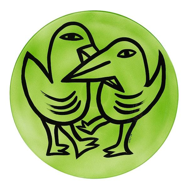 Kosta Boda Final Peace Fat Fåglar Grön 38,5 cm Grön