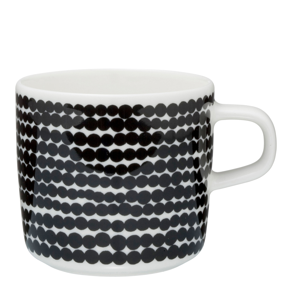 Marimekko - Räsymatto Kaffemugg Svart liten prick 20 cl