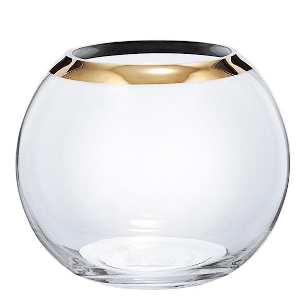 Celebration Vas rund guldkant 17 cm