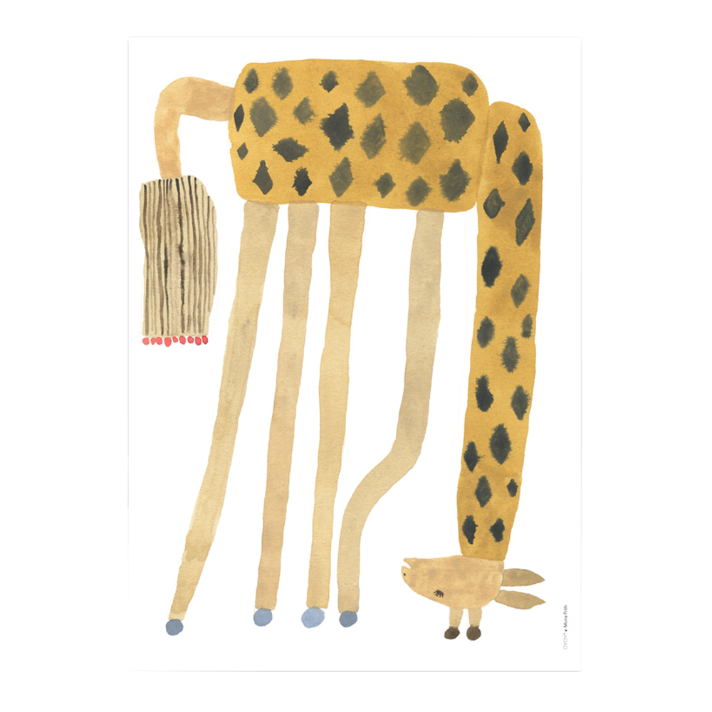 Oyoy - Affisch 70x50 cm Giraff upp och ner