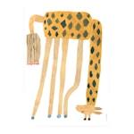Affisch 70x50 cm Giraff upp och ner