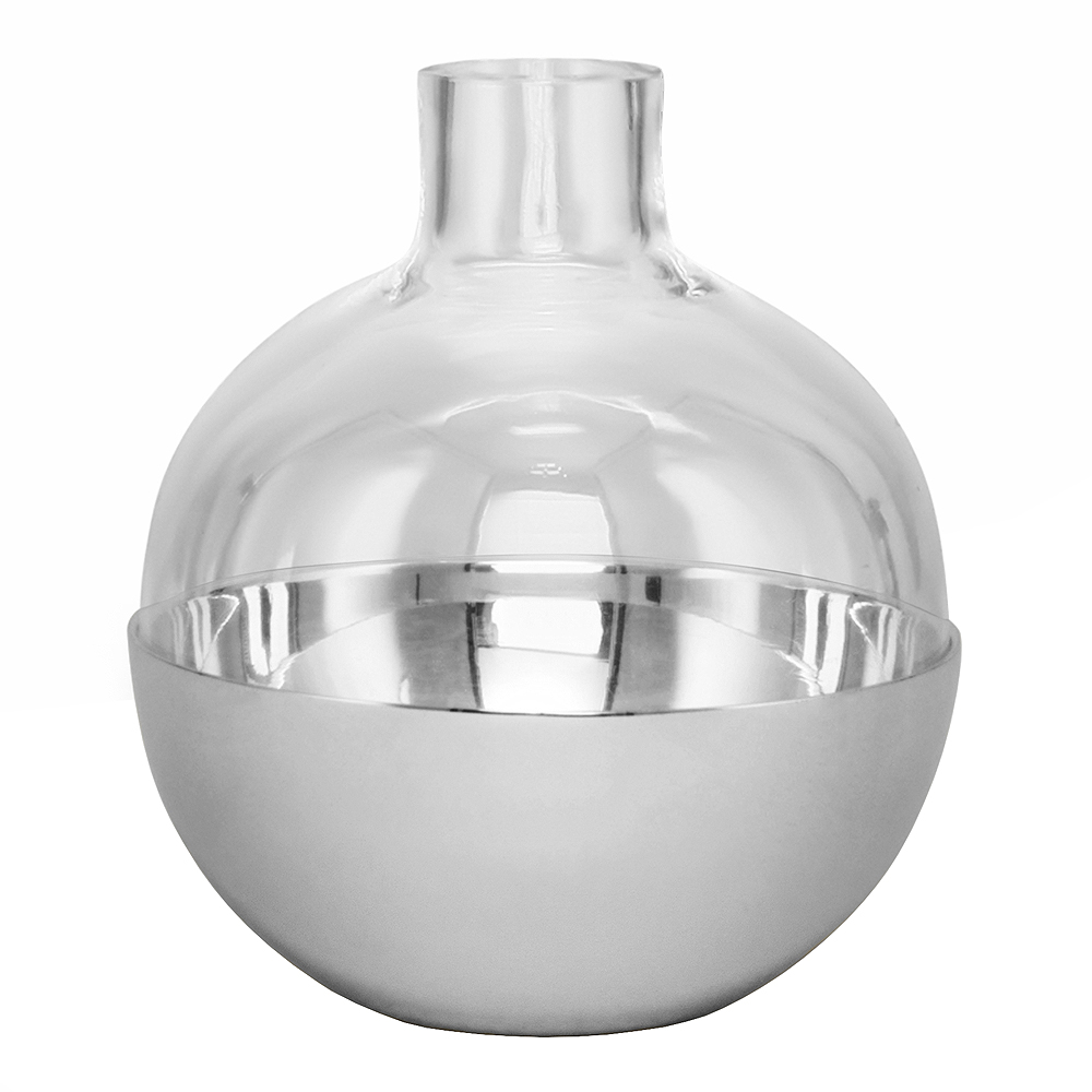 Skultuna - Pomme Vas/Lykta 9,5 cm Silver