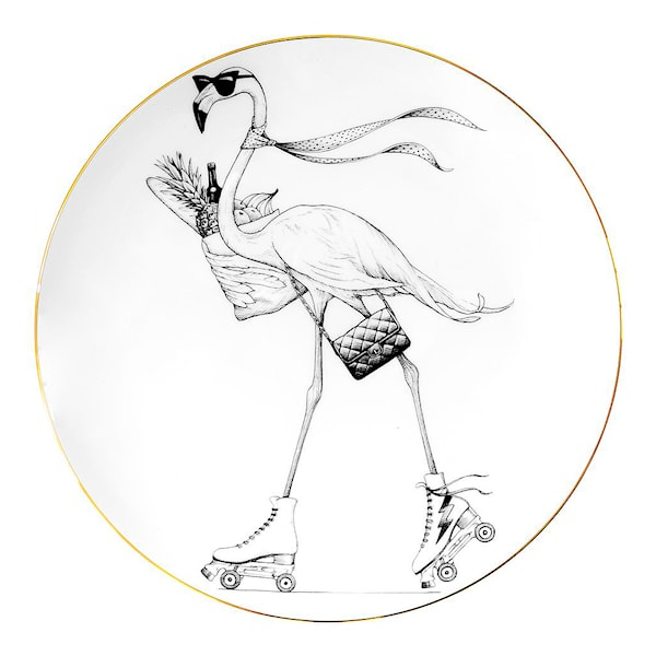 Perfect Plate Fifi Flamingo 21 cm