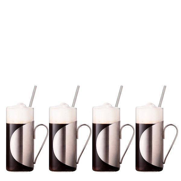 Table Top Stories Bar Irish Coffeeglas 30 cl med sugrör 4-pack