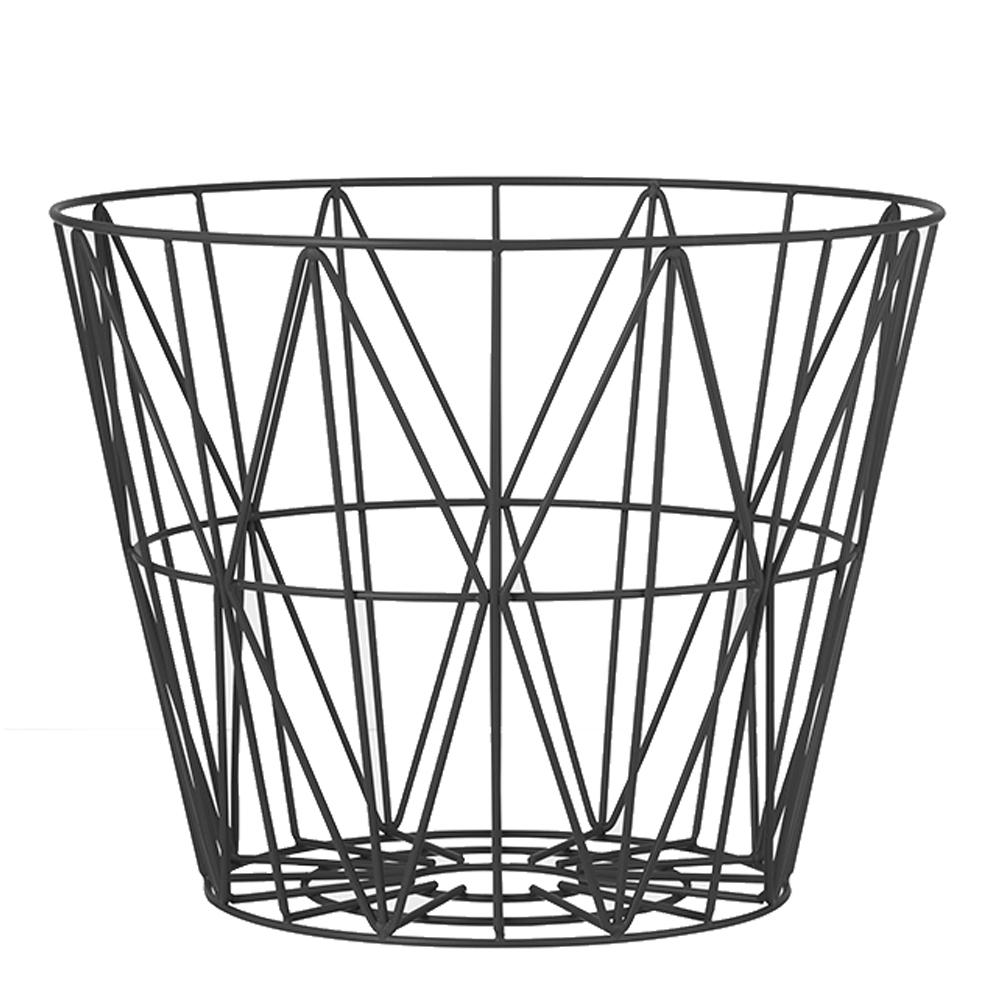Ferm Living - Wire Korg 40 cm Svart