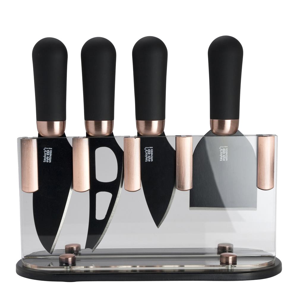 Taylor's - Ostset 4 knivar/ställ Koppar