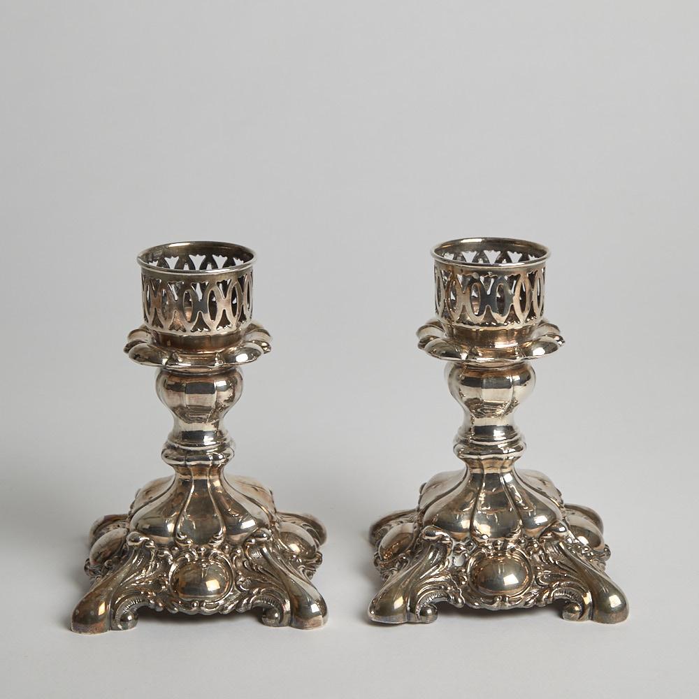 Vintage - SÅLD Silverpläterade Ljusstakar 1 par