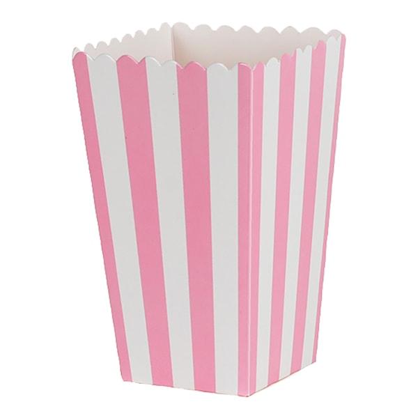 Wilton Popcornbox rosa ränder 6-pack