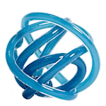 Glasskulptur Knot No 2 M  Blur Steel