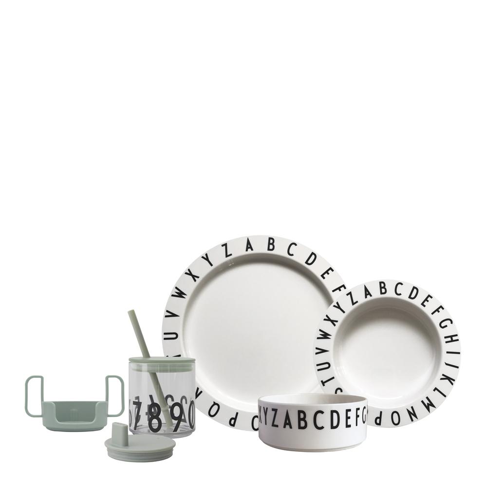 Design Letters - Eat & Learn Gåvoset A-Z Vit/Grön