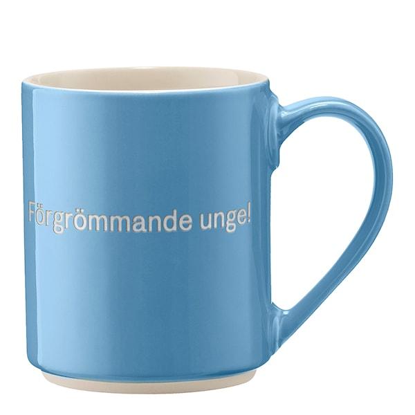 Astrid Lindgren Mugg Ljusblå Förgrömmade unge!
