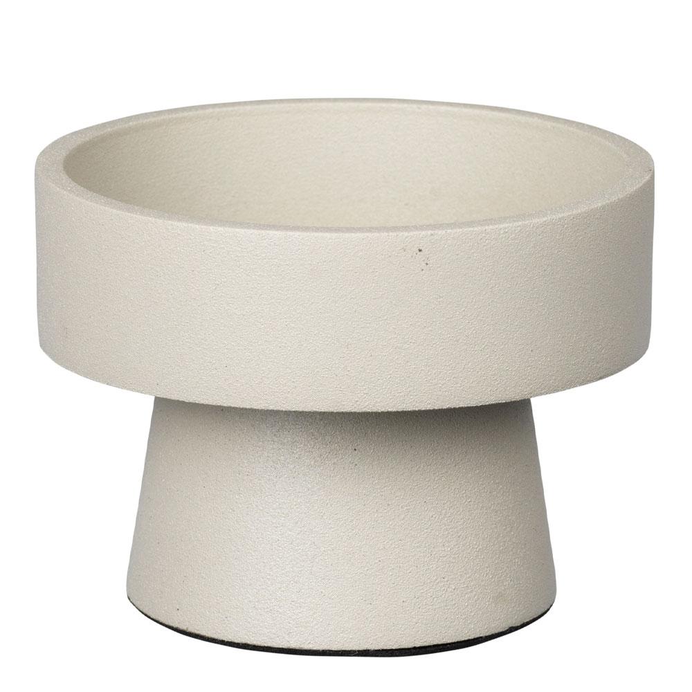 Broste Copenhagen - Anker Ljushållare för blockljus 4 cm Varmgrå