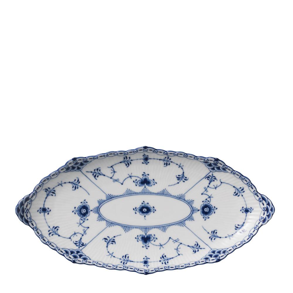 Royal Copenhagen - Blue Fluted Half Lace Fat Oval 24 cm