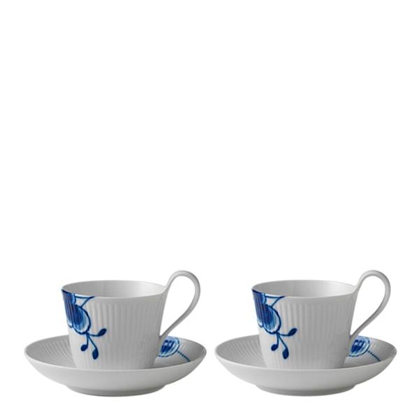 Royal Copenhagen Blue Fluted Mega Kaffegods 25 cl högt handtag 2-pack