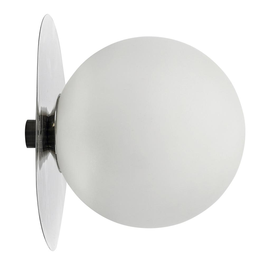 By On - Lush Globe Vägglampa 27 cm Silver/Vit