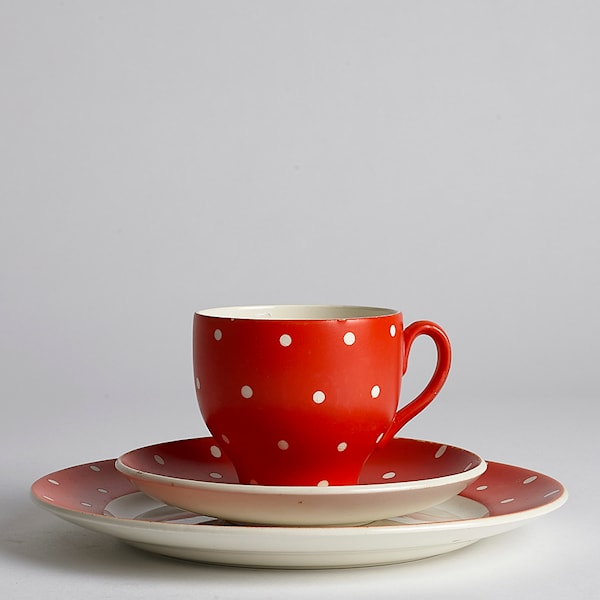 Vintage Amanita Kaffekopp/Fat 3 delar #2