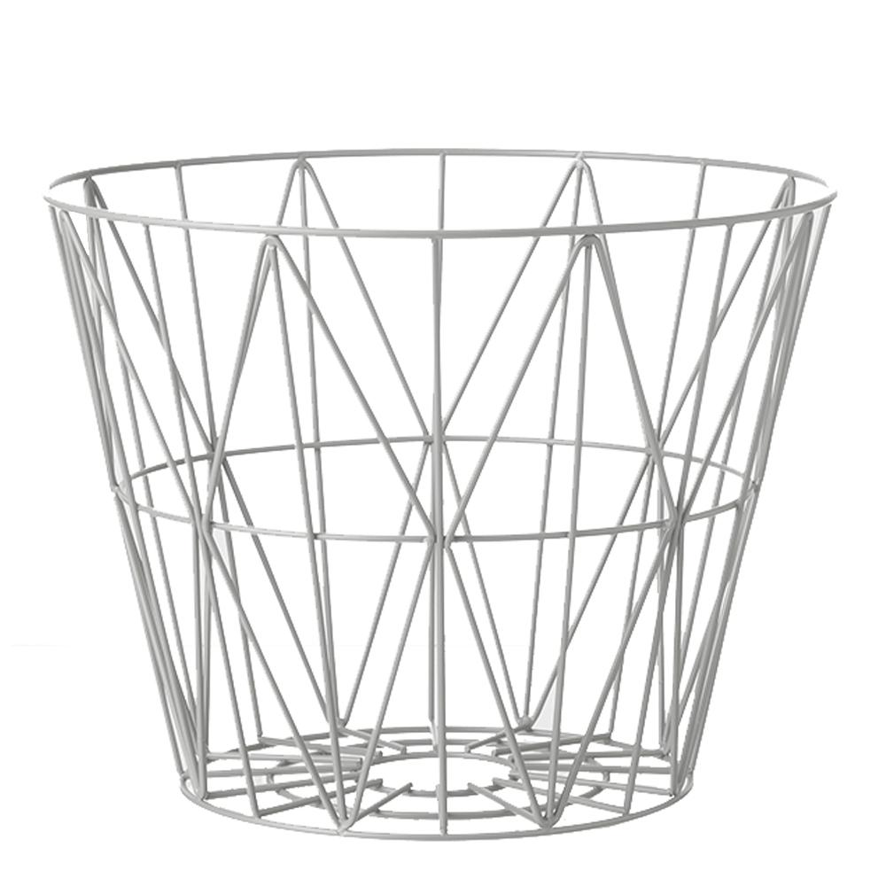 Ferm Living - Wire Korg 40 cm Ljusgrå