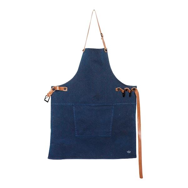 Förkläde Bomull Marinblå
