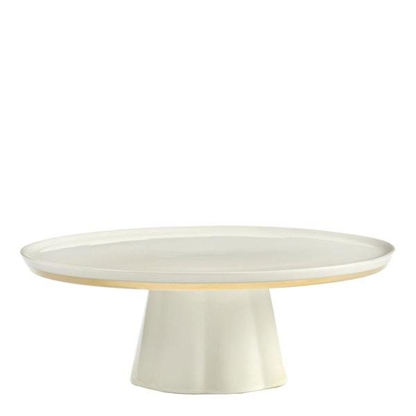 Desirée Tårtfat 24 cm Vit/Guld