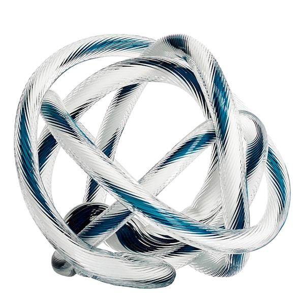 Hay Glasskulptur Knot No 2 L Vit/Teal