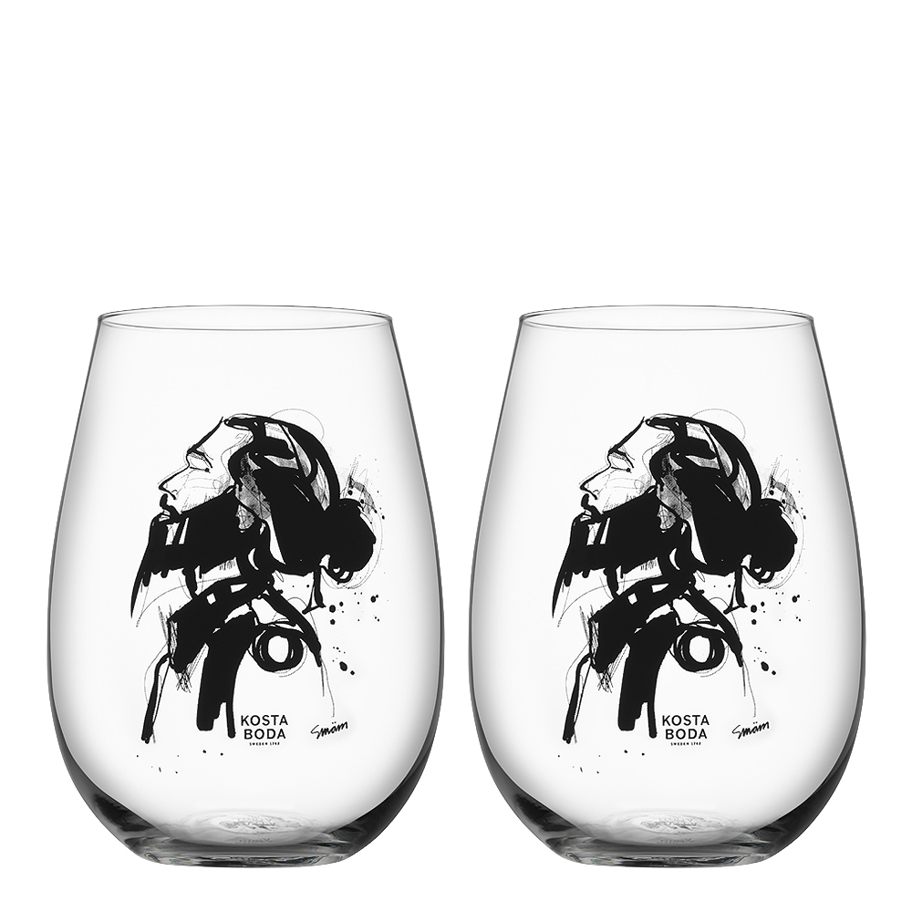 Kosta Boda - All About You Tumbler 57 cl 2-pack Love Him