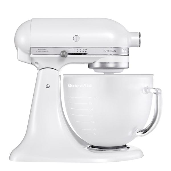 KitchenAid Artisan Kjøkkenmaskin 4,8 L glasskål Frosthvit