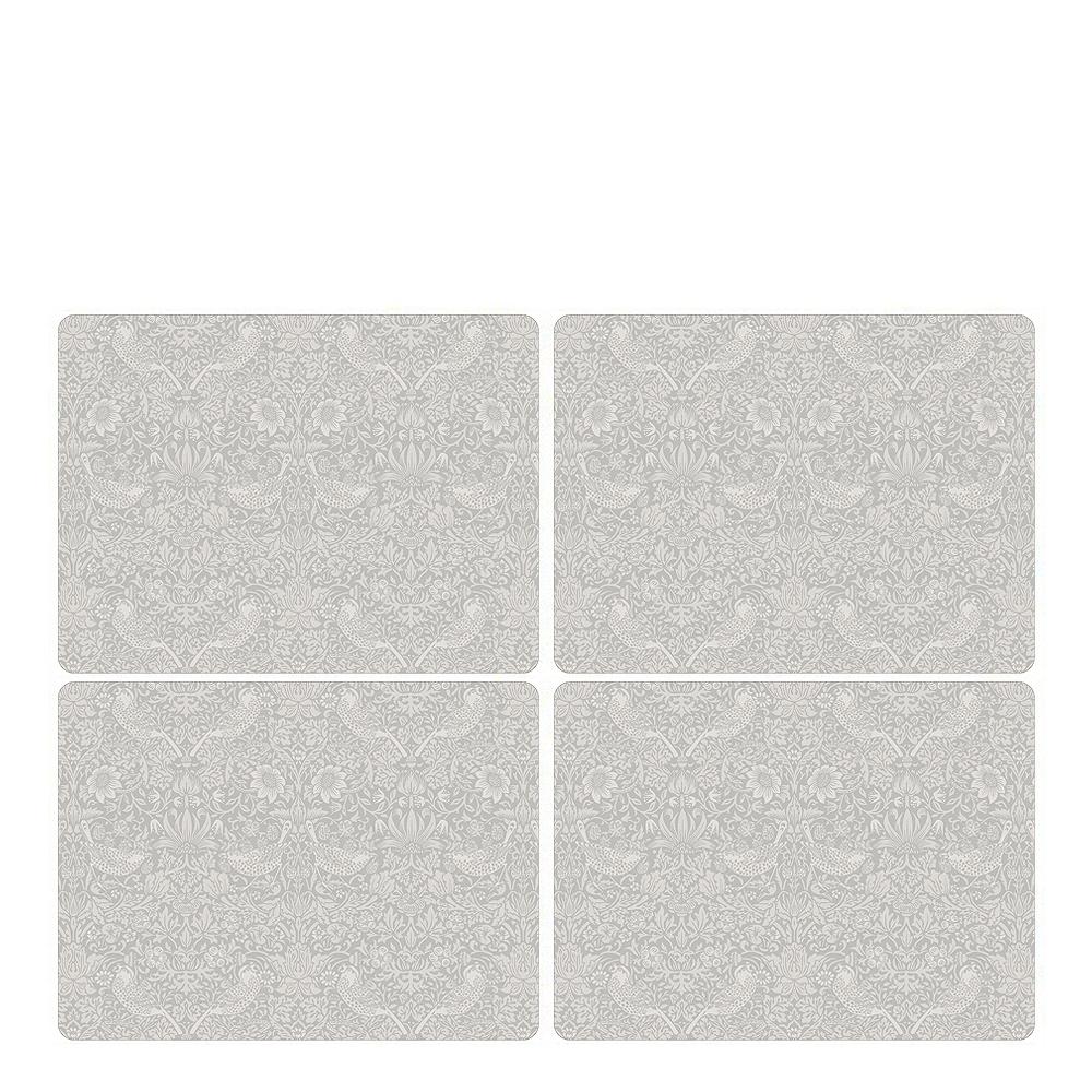 Morris & Co - Strawberry Thief Tablett 30x40 cm 4-pack Pure Vit